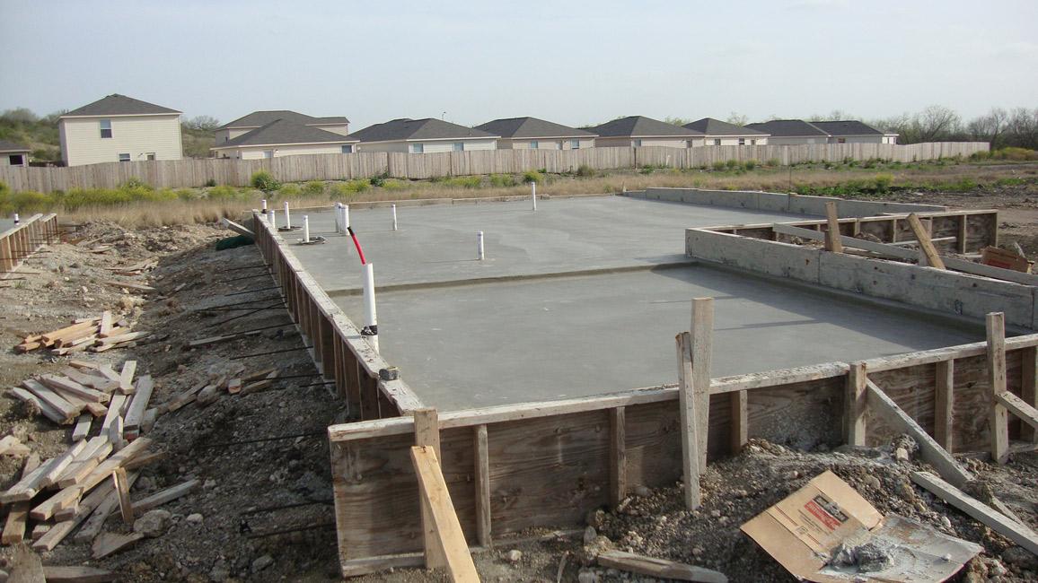 Slab projects stachler concrete for Best temperature to pour concrete foundation